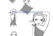Foulard en robe