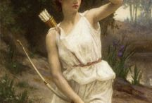 MYTH | ARTEMIS / Devotional album for ARTEMIS. ARTEMIS was the great Olympian goddess of hunting, wilderness and wild animals. She was also a goddess of childbirth, and the protectress of the girl child up to the age of marriage. Her twin brother Apollon was similarly the protector of the boy child. Together the two gods were also bringers of sudden death and disease--Artemis targetted women and girls, and Apollon men and boys.