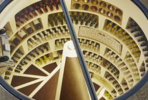 Frameless Glass Cellar Door / Our frameless hinged round glass door is seriously on trend. Not only does it look great, but it's motorised and opens via a button on the wall.  A piece of futuristic gadgetry worthy of James Bond himself. http://www.spiralcellars.co.uk/doors/glass/hinged-round/