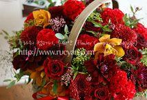 kosze i pudelka kwiatów