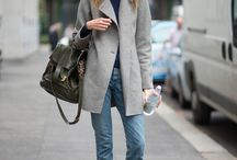 Grey coats outfits