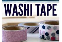 Washi tape monogram wall art