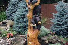 sochy ze dřeva