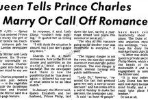 Royal Romance + Engagement 1980-1981