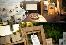 Coffee themed wedding favours