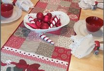 Table Runners / A selection of table runner kits and patterns available at ShabbyFabrics.com