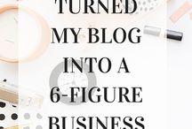 Blogging Tips For Female Entrepreneurs / Learn how to make money blogging, blogging 101, blogging advice, blogging tips, blog hacks,