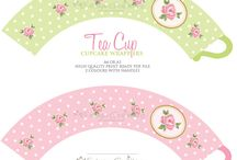 Printable cupcakewrappers