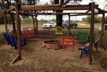 Fire pits and swings