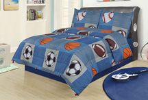 Sporty Bedroom Decor / It's time to play ball! Find ideas and inspiration for a sports themed bedroom.