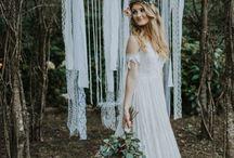 Boho Wedding Ideas / Simple gowns, decorations, wedding, bohemian inspiration