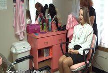 Calley's Shampoo and Braiding / Photos from Calley's Shampoo and Braiding video. It can be purchased at http://www.haircuttingfun.com/ or direct at https://sellfy.com/p/TIBF  #shampoo #braiding #hairbraiding #salon #beautysalon #hairsalon