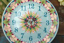 Часы и тарелки