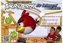 angry birds shop / Using advanced, patented Air Swimmers technology, you can bring the magic of Angry Birds to life! Air Swimmers Turbo glide through the air and fly over an hour on a single charge for long-lasting remote control indoor fun, even in the smallest rooms. The convenient Auto Swim mode makes it easy for anyone to fly and with no limit on how many can fly at once, all of your friends and family can fly too! Angry Birds Air Swimmers Turbo need 4 AA batteries and helium (not included) to fly.