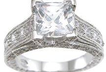 princess cut engagement rings / by Peter Drew
