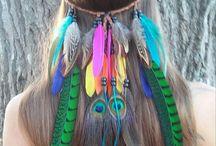diademas de plumas