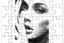 """Puzzles / Art by Rafael Salazar- Copyright 2015 Reserved. This jigsaw puzzle is a unique and fun gift for friends and family or even a present to yourself. Once assembled, the puzzle can be framed and displayed or taken apart and reassembled over and over. 30 pieces (7.5"""" x 9.5"""") Comes with matching photo box for easy storage"""
