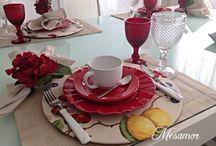 ideias de arrumação de mesa ❤ copos bico de abacaxi