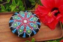 Mandala Stone painting