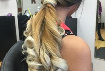 Hair styles / Waterfall braid with wand curls