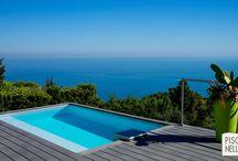 Reportage photo : une piscine dans La Turbie / Découvrez notre reportage sur un bassin contemporain et esthétique de Piscinelle, la piscine rectangulaire.