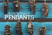 wire wrap pendants