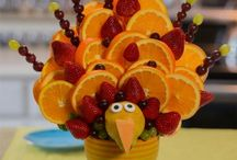 Thanksgiving Ideas - Fruit Arrangements / Blossoms Fruit Arrangement  Fruit and veggie arrangements make great gifts for dinner host, thanksgiving decoration, thanksgiving centerpieces and more visit us at http://www.blossomsfruitarrangements.com/149-thanksgiving