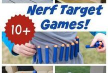 Nerf gun battle party