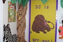 Decoración salon clases proyectos aula