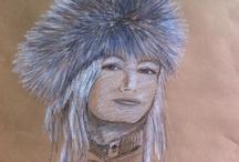 Mes Portraits / Réalisation de portrait sur commande  Ainsi que toiles, et décor mural www. Frederiquebertin.fr