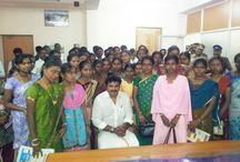 Mr. Sarath Kumar interacting with journalism students