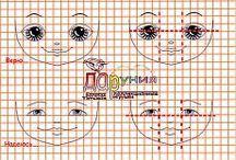 Ζωγραφική πρόσωπα κουκλας