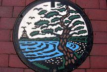 Japonya'nın Sanatsal Rögar Kapakları / Japonya sokaklarında rögar kapakları birer sanat eserine dönüştürülüyor.. (Deniz Humması - https://wp.me/p7eZYA-kp)