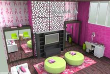 Dream Rooms for Teenage Girls / Teenage girl interior decorating ideas and fun styles