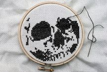 The cross stitch and embroidery