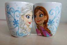 Frozen. Anna and Elsa