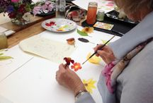 Flower Painting course with Emma Burnett / Photos from the 3 day Flower Painting course at Bradness Gallery