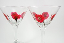 Hand Painted Wine Glasses / by Elaine Zimny