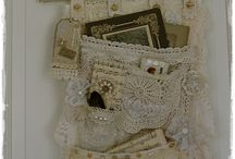 Vintage cushion pockets / pouches / wall hangings