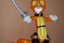 palloncini personaggi gatto con gli stivali