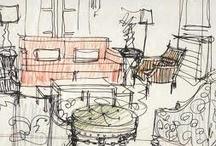 Sketch interiors / Quick sketches
