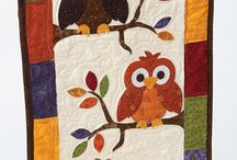 Inspiration for Owl Quilting / Ideas collected from all around by Carol's Quilts for owl quilting