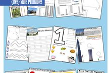 Kid Stuff: Geography - 50 states Printables