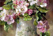barackfa virág vázában