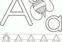 Fichas de caligrafía para niños pequeños.