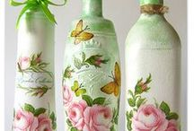 recycled  can/bottle ideas / recycled  painted bottle ideas