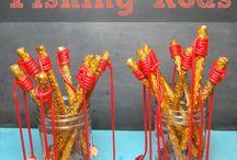 Pretzel fish rods