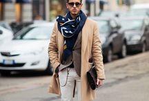 Men dressed in brown