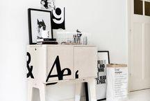 typografie in interieur