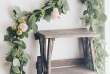 Garlands and wreaths / Hanging, stringing, draping florals & greens...around the home, in the garden and upon ourselves - happy garlands!